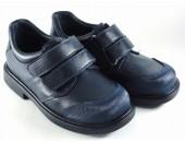 Zapato colegial dos velcros y refuerzo delantero