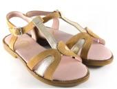 Sandalia combinada arena-oro